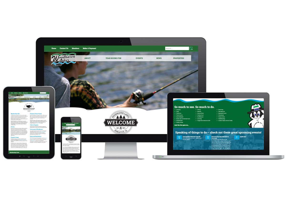Woodhaven Lakes Website